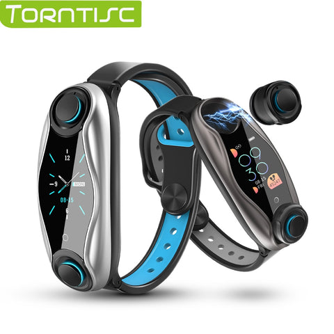 Torntisc A.I. Smart Watch Sport Watch With Earbuds, Men's Bluetooth, Sports, Health Tracking, & More - SmartTechUnlimited