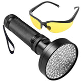 Flashlight, Ultra Violet Black Light or white Light, with 100 LED Bulbs - SmartTechUnlimited