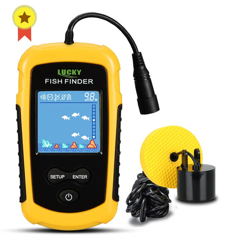 Portable Sonar Fish Finder, 1 Alarm Fishing Lure Echo Sounder For the Lake, or Sea, 100M - SmartTechUnlimited