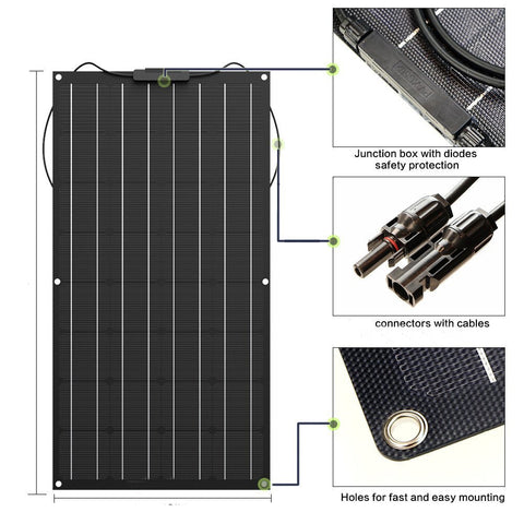 Flexible Solar Panel, 100w - 400w, 1000w Home System Kit, with Cover - SmartTechUnlimited