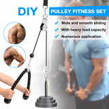 Fitness Pulley Cable Machine Attachment System, DIY Gym Workout, Biceps, Triceps, Hand Training Equipment, Loading Pin Lifting - SmartTechUnlimited