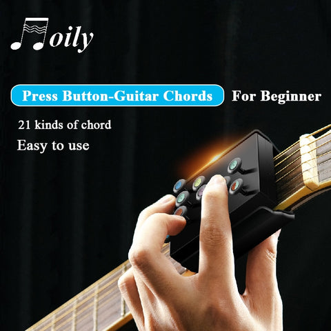 21 Guitar Chords Beginner Teaching Aid, Learning System, Guitar Trainer, Practice Acoustic Guitar Accessories, Chord Buddy - SmartTechUnlimited