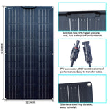 Flexible Solar Panels, 100W, 2-10 pieces for Home, Car, RV, Boat, Etc. 12V, 24V Solar Battery, Monocrystalline - SmartTechUnlimited