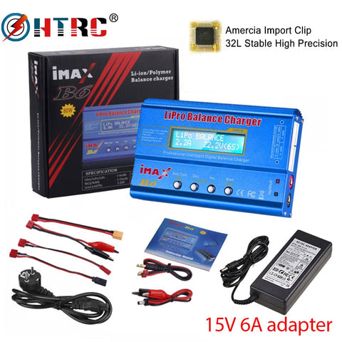HTRC iMAX B6 80W Lipo Charger With 15V 6A Power Supply Optional For Lipo NiMh Li-ion Ni-Cd Battery Balance Charger Discharger - SmartTechUnlimited