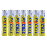 PKCELL 8 AAA Rechargeable Batteries, 1.2V Ni-MH, 1000MAH, 2 Battery Holders - SmartTechUnlimited
