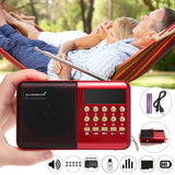 Mini Portable Digital AM/FM + Short Wave Radio, USB, SD/TF,  MP3 Player, Rechargeable - SmartTechUnlimited
