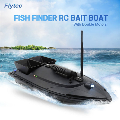 RC Electric Fishing Boat, 500M Remote Fish Finder, 5.4km/h Double Motor Kit, RTR Version, Flytec 2011-5 / V007 & V500 - SmartTechUnlimited