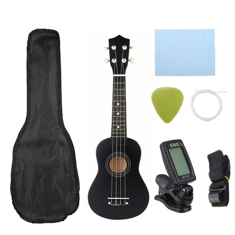 "Ukulele Combo 21"" Soprano, 4 Strings, Hawaii Bass Musical Instrument Set Kits, Includes a Tuner, String, Strap, Bag - SmartTechUnlimited"