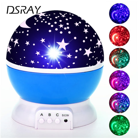 LED Projector Rotating Galaxy Night Light, Stars, Moon, Nursery Nightlight Baby Lamp - SmartTechUnlimited
