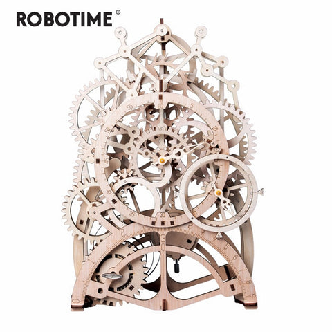 Robotime DIY Wooden Model Building Kits, Locomotive, Tractor, Pendulem Clock, Airship - SmartTechUnlimited