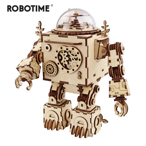Robotime AM601 DIY Wooden Steampunk Model Building Kits, Fan Rotatable , 5 Choices - SmartTechUnlimited