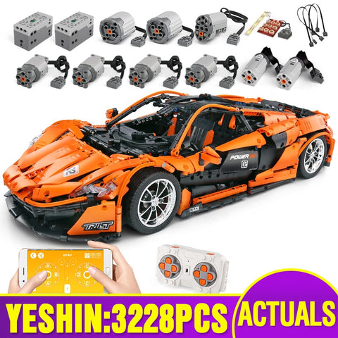 Motorized Technic Car Building Blocks/Bricks, With McLaren P1 Motor Function, Compatible With MOC-16915 - SmartTechUnlimited