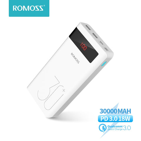 ROMOSS 3.0 Quick Charge Powerbank 30000mAh - SmartTechUnlimited