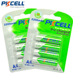 PKCELL 8 AA Pre-charged Rechargeable Batteries, NiMH 1.2V 2200mAh Ni-MH, Low Self Discharge, 8pcs/2cards - SmartTechUnlimited