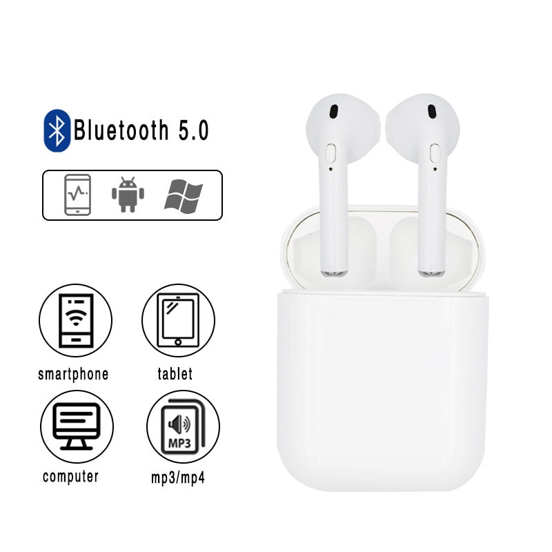 i10s tws Bluetooth Earphone 5.0 Original Handsfree Head phones USB Charging HiFi Music 3D Sound Earbuds For iPhone Android pods