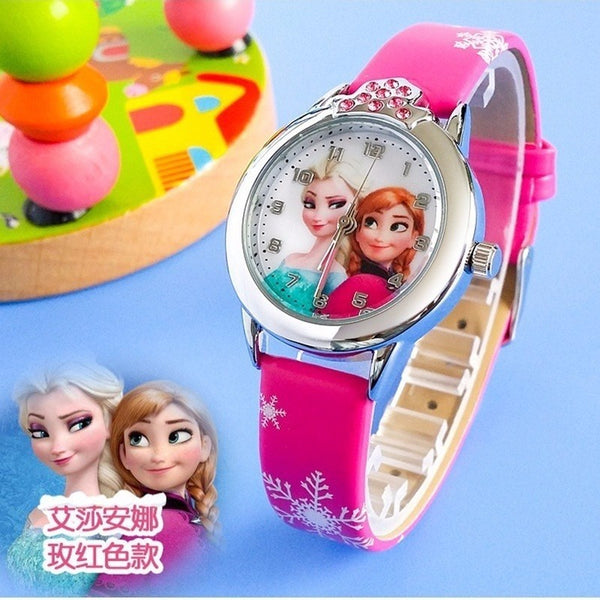 Kids Watches Girls 2019 New Relojes Cartoon Children Watch Princess Watches Fashion Kids Cute Rubber Leather Quartz Watch Gifts