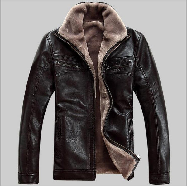 2018 New Men Genuine Leather Coat sheepskin men's short Jacket leather winter jackets mens Free Shipping Plus Size M-5XL