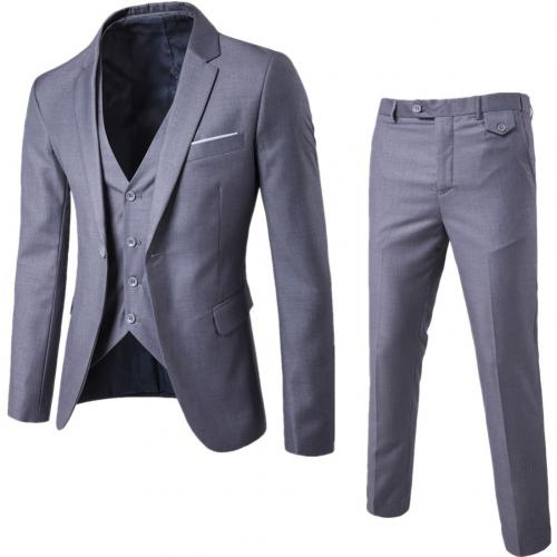 3Pcs/Set Luxury Plus Size Men Suit Set Formal Blazer +Vest +Pants Suits Sets Oversize For Men's Wedding Office Business Suit Set