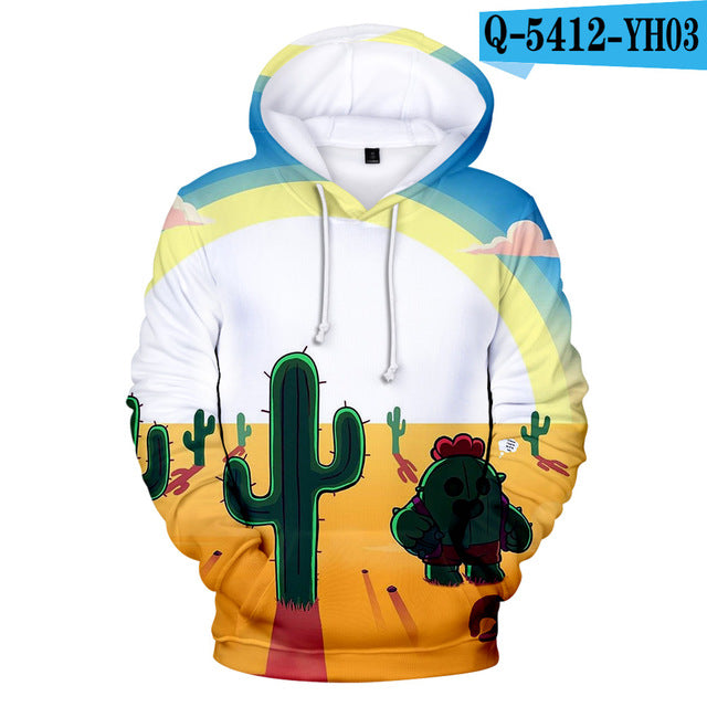 2 To 12 Years Kids Hoodies Shooting Game 3d Printed Hoodie Sweatshirt boys girls Harajuku Long Sleeve Jacket Coat Teen Clothes