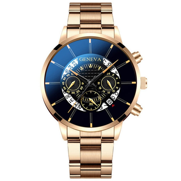 Fashion Men Stainless Steel Watch Luxury Calendar Quartz Wrist Watches Business Casual Watch for Man Clock Relogio Masculino