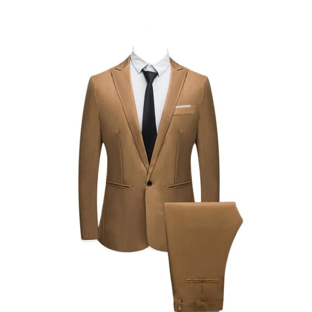 Suit suit male 2019 spring and autumn high-end custom business blazers Two-piece / Slim large size multi-color boutique suit