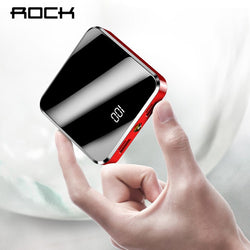 ROCK Power Bank 20000mAh Fast Charger Portable External Battery Pack Batteries Powerbank for Samsung Xiaomi Smart Phone