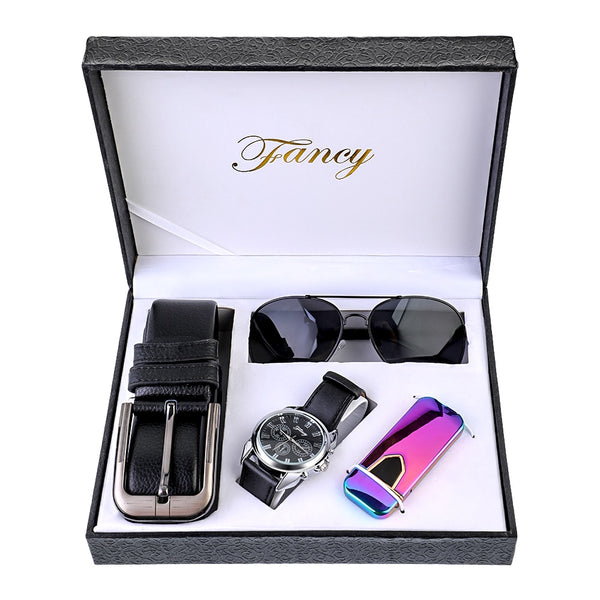 Men's Watch Belt Sunglasses Gift Set