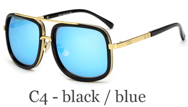 Classic Oversized Men Sunglasses Luxury Brand Women mach one Sun Glasses Square retro Oculos de sol Male UV400 Mirror Eyewear