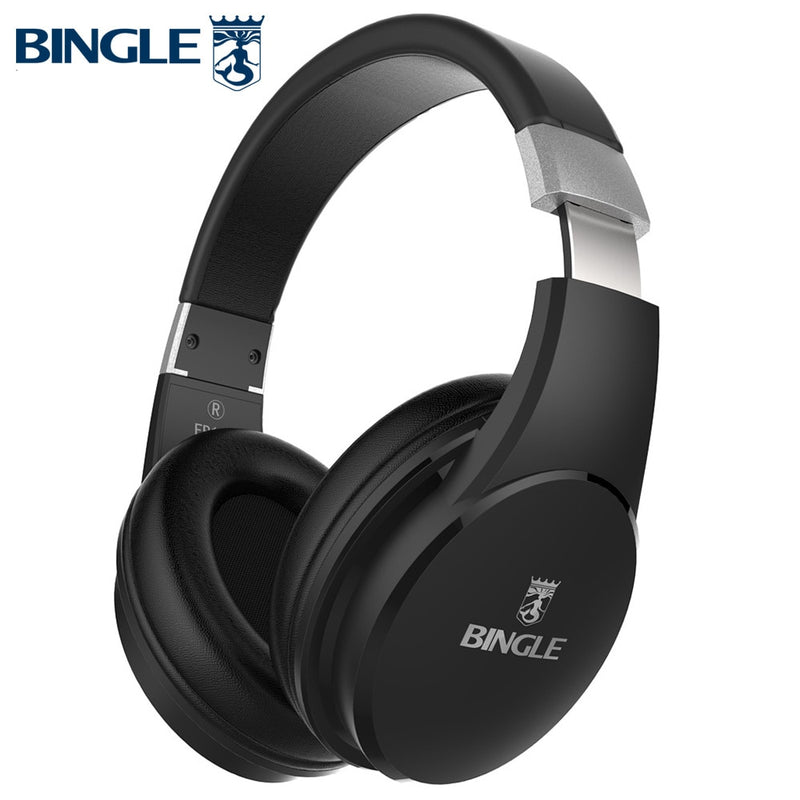 Bingle Fb110 Deep Bass 3D Surround Stereo Overear BT Head Phone Wireless Bluetooth Headset Headphone With Microphone 3.5MM Audio