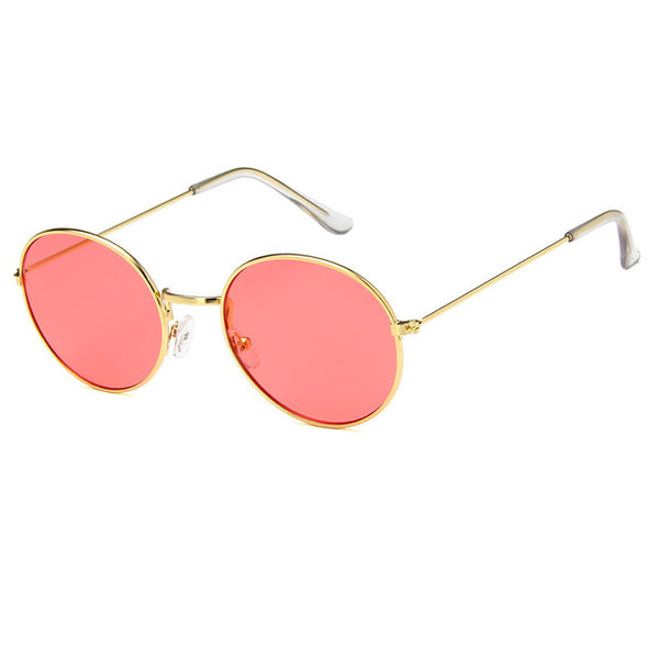 AOOFFIV Brand Vintage oval sunglasses men woman 2019 Glasses Retro Driving  round metal frame Sun Glasses For Men mirror UV400