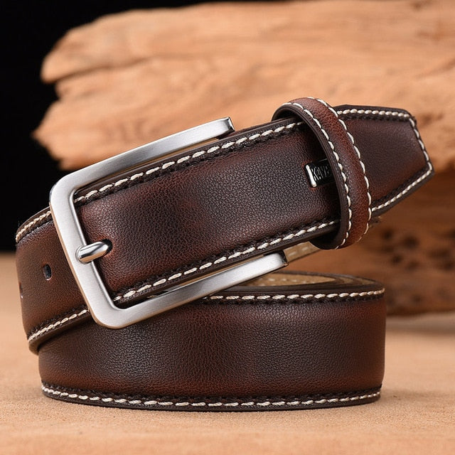 Mens Business Belt (Chestnut)