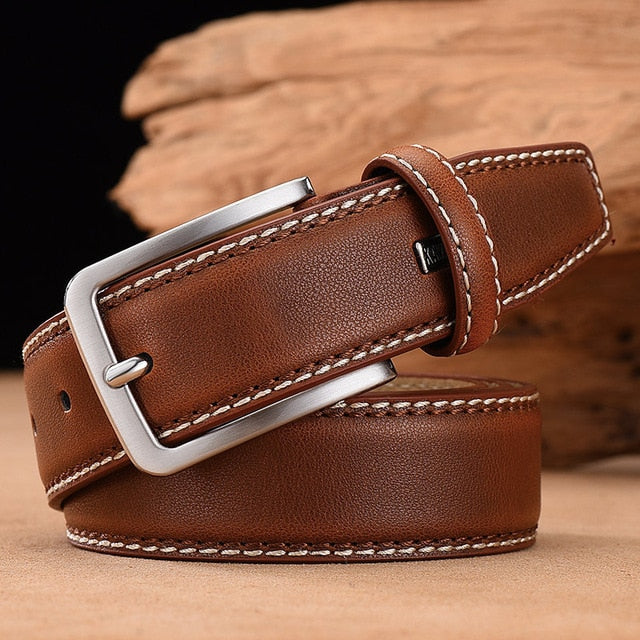 Mens Business Belt (Saddle Brown)