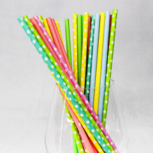 Load image into Gallery viewer, Assorted Polka Dot Paper Straws