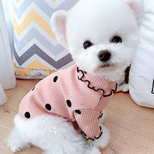 Load image into Gallery viewer, Dog Shirt - Polka Dot Turtleneck