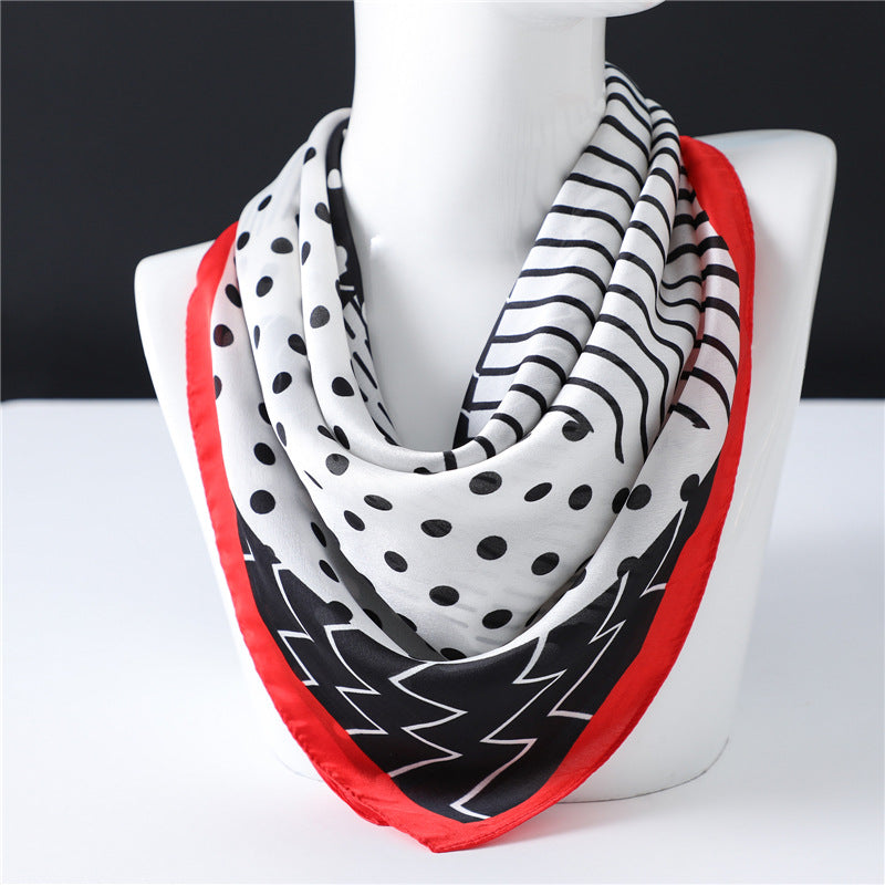 Women's Geometric Polka Dot Scarf