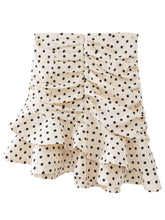 Load image into Gallery viewer, White Polka Dot Short Skirt