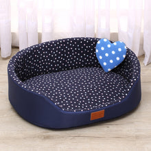 Load image into Gallery viewer, Pet Polka Dot Cushion Bed