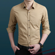 Load image into Gallery viewer, Polka Dot Men's Slim Shirt