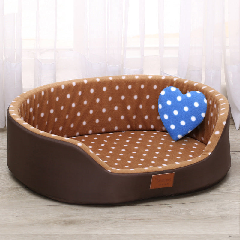 Pet Polka Dot Cushion Bed