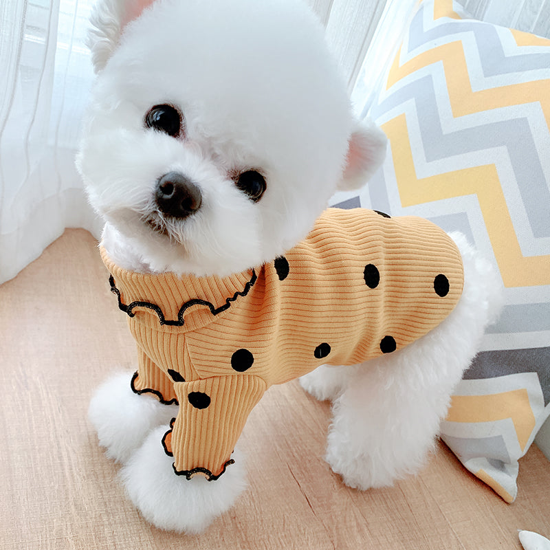 pet dog shirt polka dot