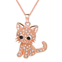 Load image into Gallery viewer, Rhinestone Unisex Cat Necklace
