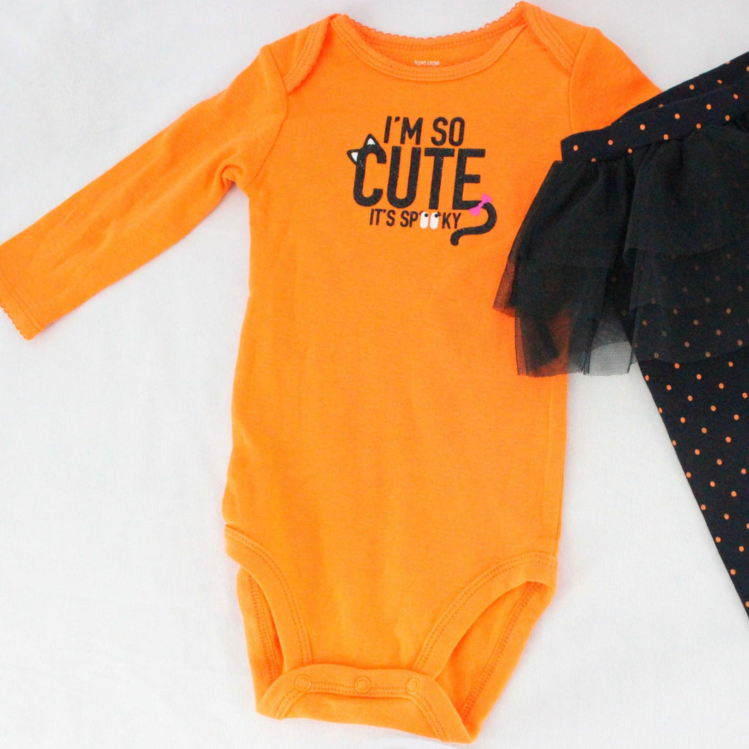 Baby Girls' Bodysuit Set - Tutu & Polka Dot