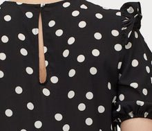 Load image into Gallery viewer, Polka Dot Crêped Dress