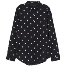 Load image into Gallery viewer, Women's Polka Dot Long Sleeve Shirt