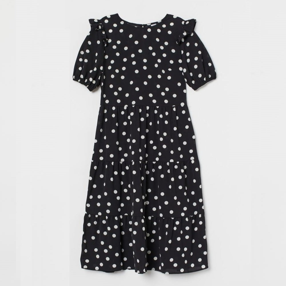 Polka Dot Crêped Dress