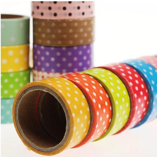 Decorative Polka Dot Tape - 2PCS
