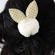 Load image into Gallery viewer, Elastic Hair Tie with Pom-Pom & Rabbit Ear