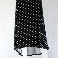 Load image into Gallery viewer, Low Back Black Polka Dot Skirt