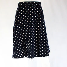 Load image into Gallery viewer, Polka Dot Flared High Waisted Skirt