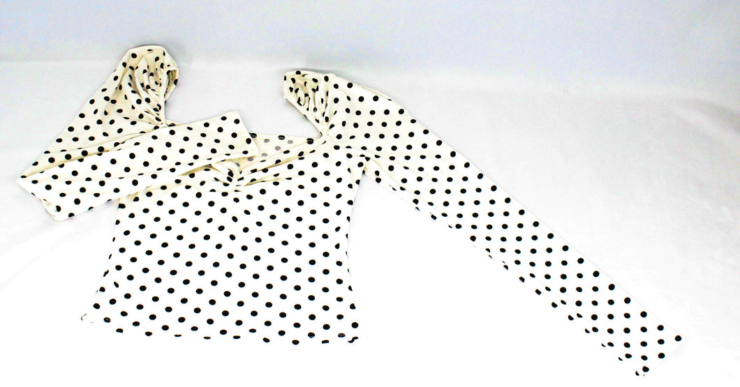 Polka Dot Sweetheart Neck Top